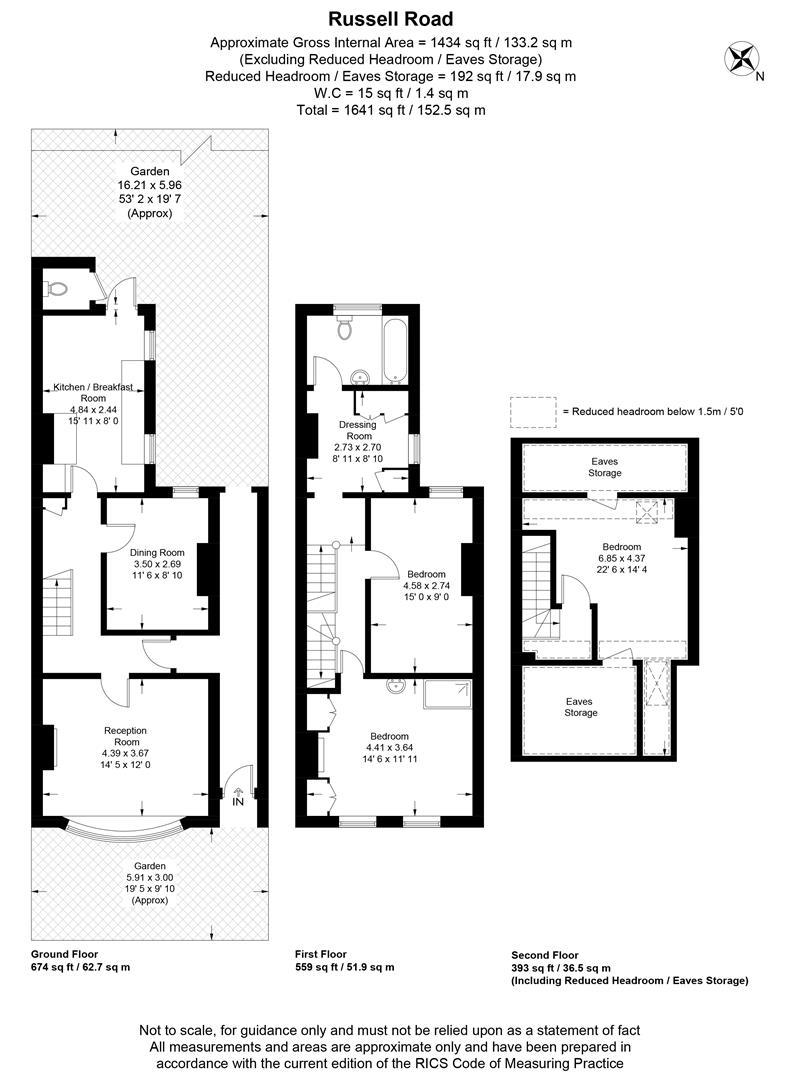 Floorplan for Russell Road, Wimbledon